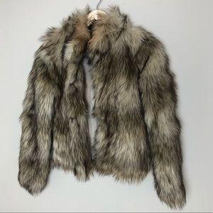 Faux Fur Waist Jacket